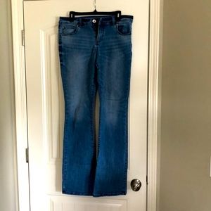 Ink boot cut jeans in long length